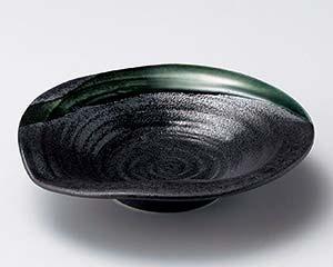 【まとめ買い10個セット品】和食器 イ044-067 黒水晶織部流5.5浅鉢【キャンセル/返品不可】
