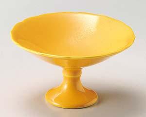 【まとめ買い10個セット品】和食器 ツ049-047 黄釉高台小鉢【キャンセル/返品不可】