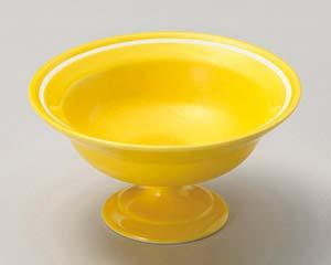 【まとめ買い10個セット品】和食器 ト049-197 黄釉 一引高台小鉢【キャンセル/返品不可】