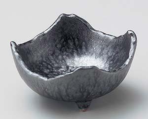 【まとめ買い10個セット品】和食器 ユ055-257 銀彩結晶角小鉢【キャンセル/返品不可】