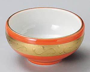 和食器 ミ078-406 赤釉金彩丸珍味