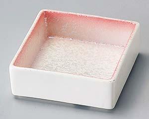 【まとめ買い10個セット品】和食器 ホ094-027 ピンクパール松花堂角鉢【キャンセル/返品不可】