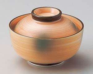 【まとめ買い10個セット品】和食器 ツ101-127 オレンジ巻グリーン吹京型円菓子碗【キャンセル/返品不可】