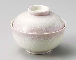 【まとめ買い10個セット品】和食器 ミ101-216 ピンク白吹煮物碗 【キャンセル/返品不可】