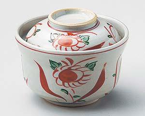 【まとめ買い10個セット品】和食器 ネ102-157 赤絵花鳥円菓子碗【キャンセル/返品不可】