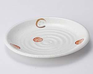 【まとめ買い10個セット品】和食器 テ114-247 粉引丸紋6.0皿【キャンセル/返品不可】
