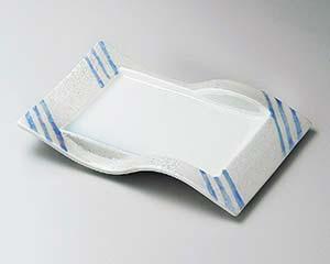 【まとめ買い10個セット品】和食器 ミ136-107 ブルー線ラスター前菜皿【キャンセル/返品不可】