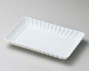 【まとめ買い10個セット品】和食器 ヤ140-087 白菊21cm長角皿【キャンセル/返品不可】