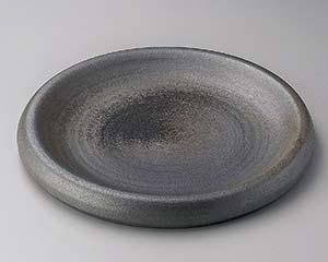 和食器 メ164-146 黒窯変8.0台皿