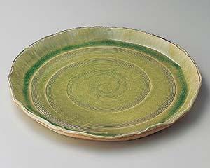 和食器 メ165-196 萠黄12.0丸皿
