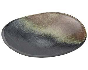 【まとめ買い10個セット品】和食器 メ166-136 古陶12.0変形大皿 【キャンセル/返品不可】