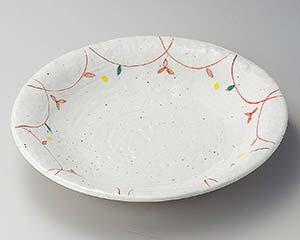【まとめ買い10個セット品】和食器 ミ167-066 粉引小花尺皿 【キャンセル/返品不可】