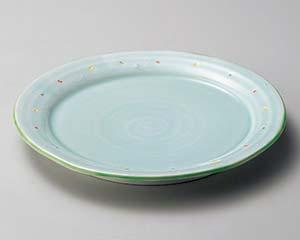 【まとめ買い10個セット品】和食器 ミ174-336 ウォーターブルー9.0皿 【キャンセル/返品不可】