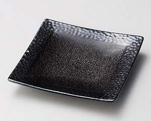 【まとめ買い10個セット品】和食器 ホ184-247 茶色ショコ正角7.0皿【キャンセル/返品不可】