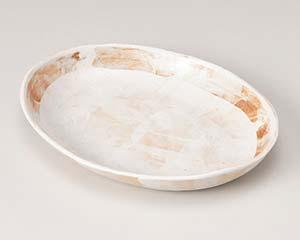 【まとめ買い10個セット品】和食器 ロ188-117 志野 9寸楕円皿【キャンセル/返品不可】