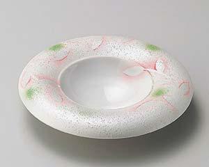 【まとめ買い10個セット品】和食器 ミ198-076 ラスターピンク芦ハット型前菜皿 【キャンセル/返品不可】