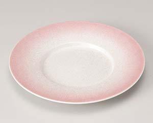 【まとめ買い10個セット品】和食器 ミ201-067 ピンクラスター24cm丸皿【キャンセル/返品不可】