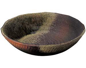 【まとめ買い10個セット品】和食器 メ232-106 火色灰釉吹11.0大鉢 【キャンセル/返品不可】
