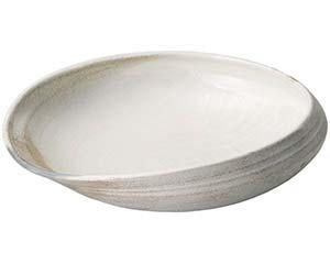 【まとめ買い10個セット品】和食器 メ233-097 灰釉粉引13.0変型鉢【キャンセル/返品不可】