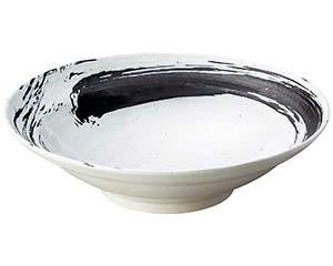 【まとめ買い10個セット品】和食器 ワ236-067 白玉粉引内黒刷毛尺鉢【キャンセル/返品不可】