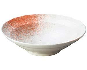 【まとめ買い10個セット品】和食器 ワ236-087 白玉粉引ピンク吹尺鉢【キャンセル/返品不可】