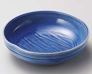 【まとめ買い10個セット品】和食器 ミ248-166 青釉ソギ盛皿 【キャンセル/返品不可】