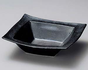 【まとめ買い10個セット品】和食器 イ250-117 銀黒回角盛鉢【キャンセル/返品不可】