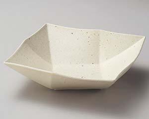 【まとめ買い10個セット品】和食器 ネ251-026 粉引オリメ角鉢(中) 【キャンセル/返品不可】