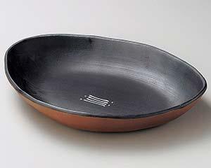 【まとめ買い10個セット品】和食器 ツ253-066 ブラックビートピラフ鉢 【キャンセル/返品不可】