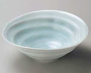 【まとめ買い10個セット品】和食器 タ256-197 青白磁うず潮6.0鉢【キャンセル/返品不可】