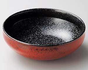 【まとめ買い10個セット品】和食器 ユ260-087 赤柚子黒結晶7.5ボール【キャンセル/返品不可】