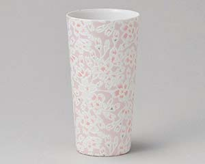 【まとめ買い10個セット品】和食器 ア268-037 かるうす桜ピンクロングカップ【キャンセル/返品不可】