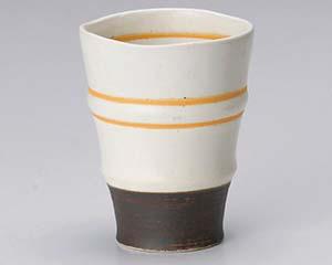 【まとめ買い10個セット品】和食器 ア270-136 アースオレンジフリーカップ(白) 【キャンセル/返品不可】