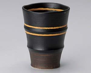 【まとめ買い10個セット品】和食器 ア270-146 アースオレンジフリーカップ(黒) 【キャンセル/返品不可】