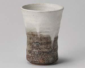 【まとめ買い10個セット品】和食器 メ273-016 灰釉粉引フリーカップ 【キャンセル/返品不可】