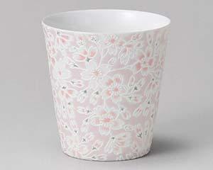 【まとめ買い10個セット品】和食器 ア275-016 桜ピンクフリーカップ 【キャンセル/返品不可】