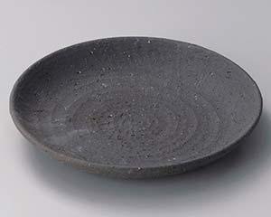 【まとめ買い10個セット品】和食器 ト304-157 黒土8寸皿【キャンセル/返品不可】
