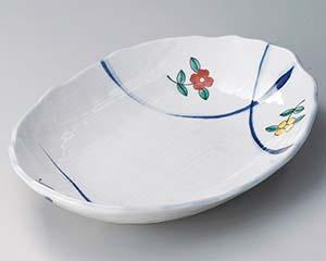 【まとめ買い10個セット品】和食器 ミ307-037 綿花紋楕円盛皿【キャンセル/返品不可】