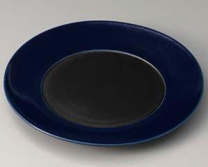 【まとめ買い10個セット品】和食器 ト307-106 コバルト銀彩 9寸皿 【キャンセル/返品不可】
