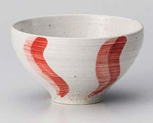 【まとめ買い10個セット品】和食器 ユ360-407 うるし流水(赤)茶碗【キャンセル/返品不可】