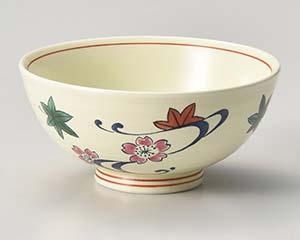 【まとめ買い10個セット品】和食器 ウ363-046 黄釉流水 飯碗 【キャンセル/返品不可】