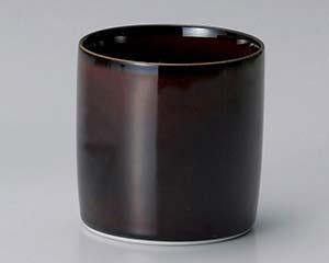 【まとめ買い10個セット品】和食器 ネ368-016 漆ブラウン切立カップ 【キャンセル/返品不可】