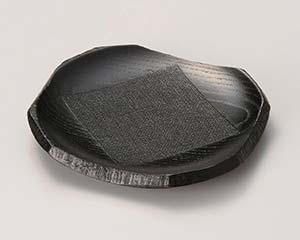 【まとめ買い10個セット品】和食器 ワA382-376 4.5角銘々皿(黒) 【キャンセル/返品不可】