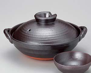 【まとめ買い10個セット品】和食器 ス398-256 鉄釉京型10号鍋 【キャンセル/返品不可】