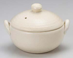 【まとめ買い10個セット品】和食器 ス402-056 白釉7号蒸し鍋(中子付) 【キャンセル/返品不可】