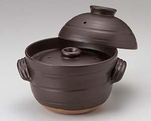 和食器 ス403-017 大黒ふっくらご飯鍋6合炊(中蓋付)