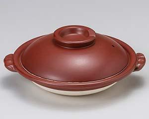 和食器 ス409-086 鉄赤すっぽん鍋8号