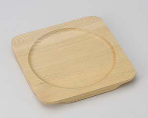【まとめ買い10個セット品】和食器 ワ413-257 白木正角木台Fφ175【キャンセル/返品不可】