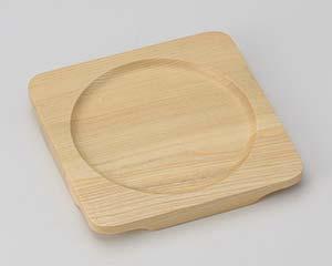 【まとめ買い10個セット品】和食器 ワ413-277 白木正角木台Dφ145【キャンセル/返品不可】