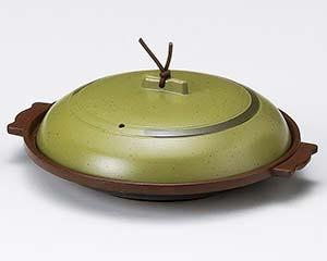 【まとめ買い10個セット品】和食器 ワD415-256 丸陶板うぐいす16cm(アルミ)M10-600 【キャンセル/返品不可】